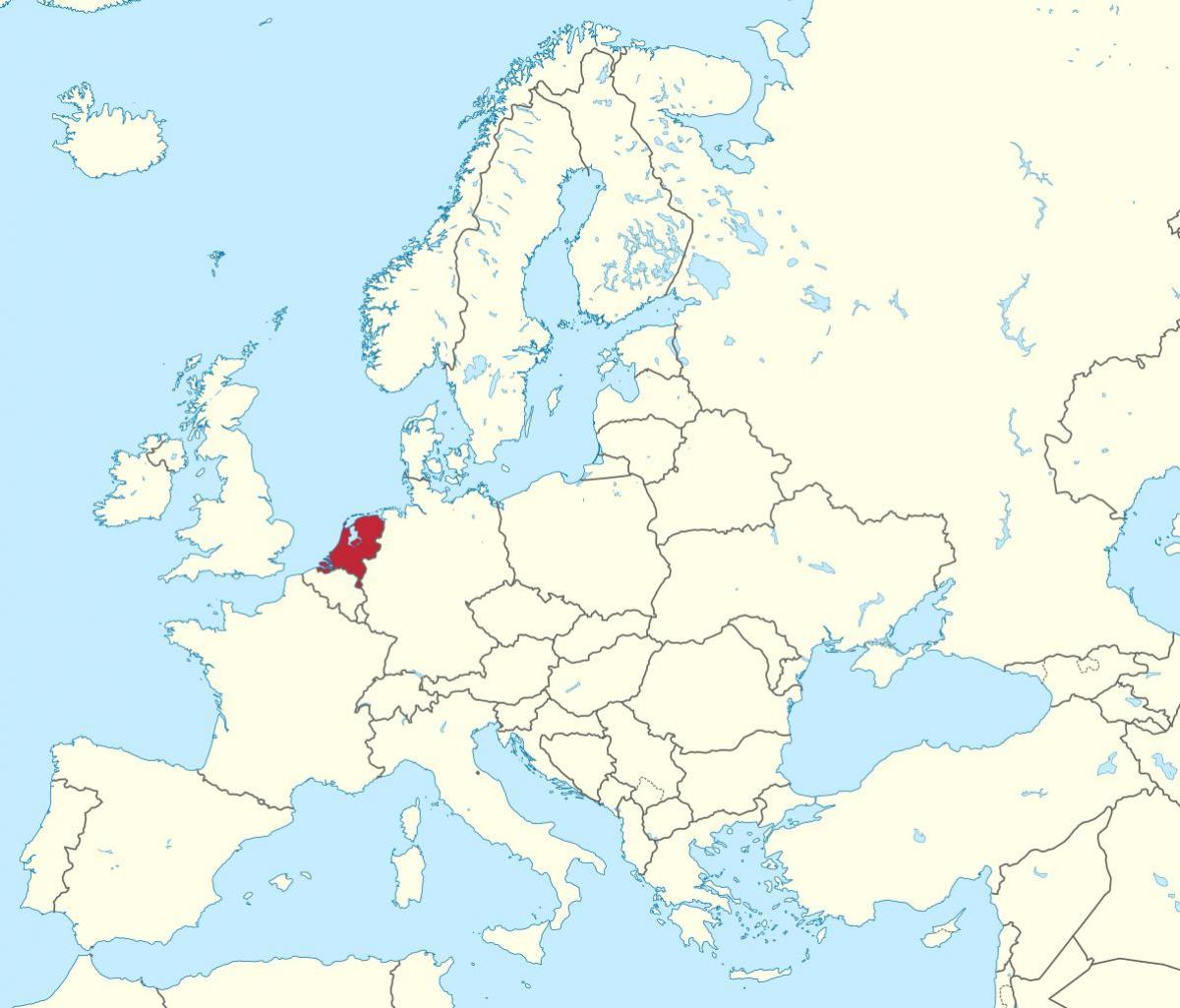 nederland kart Europa kart nederland   Nederland kart europa (Vest Europa   Europa) nederland kart