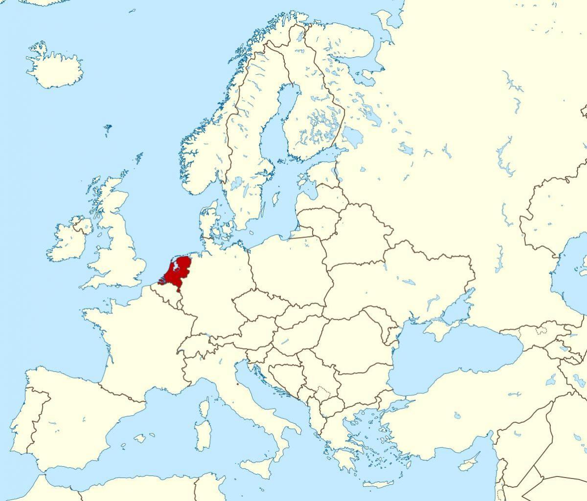 nederland kart Nederland Europa kart   Kart over Europa Nederland (Vest Europa  nederland kart
