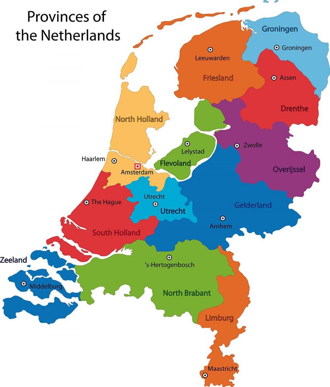 Nederland Provinser Kart Kart Over Nederland Provinser Vest